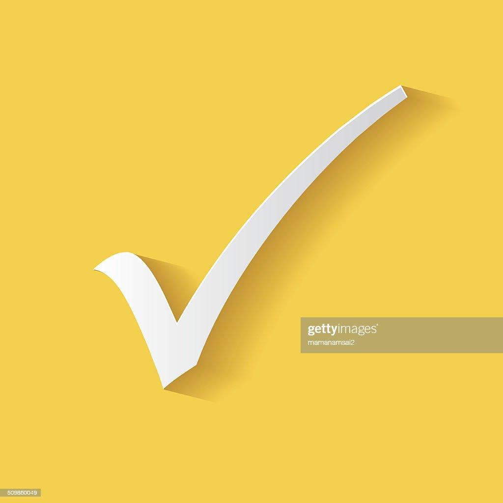 Check mark symbol,clean vector