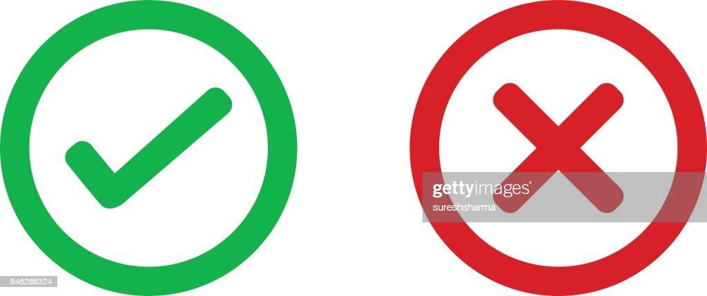 check mark wrong mark icon