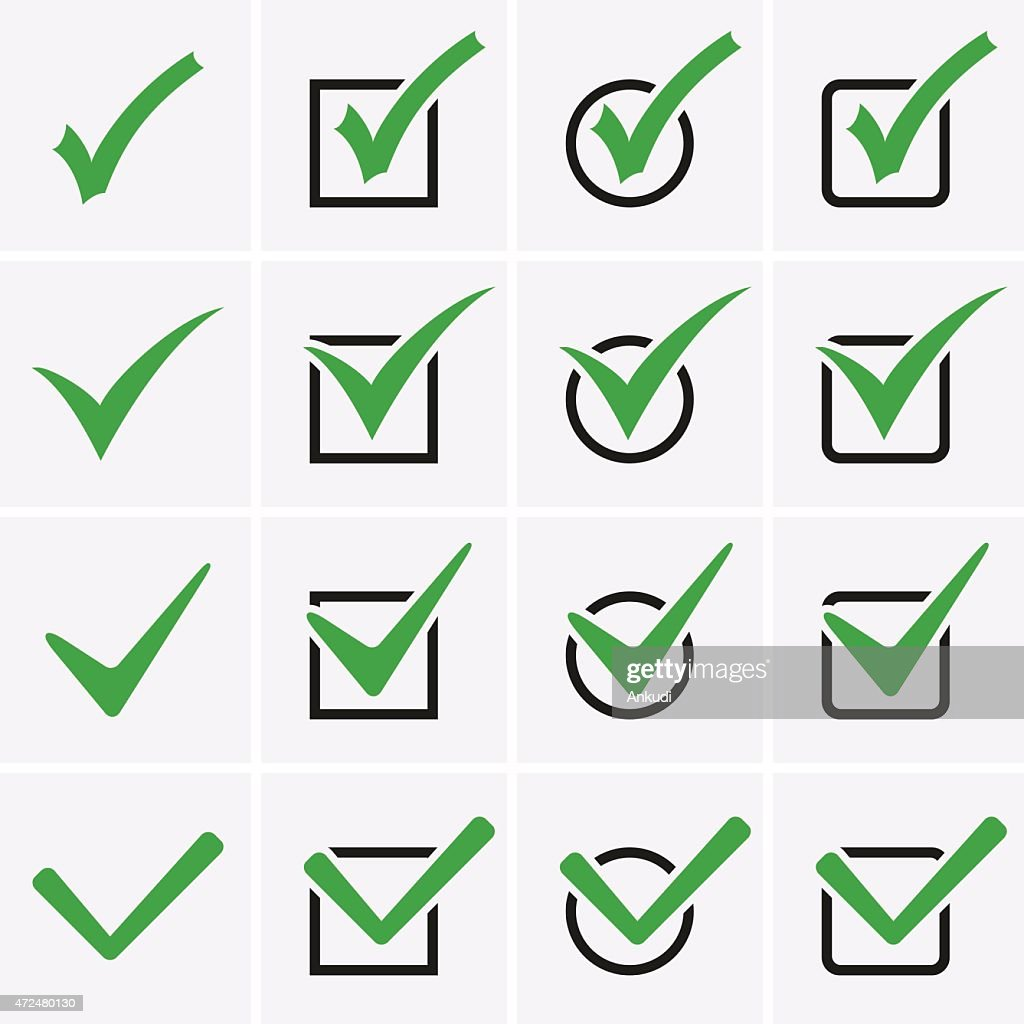 Check Marks or Ticks Icons in boxes