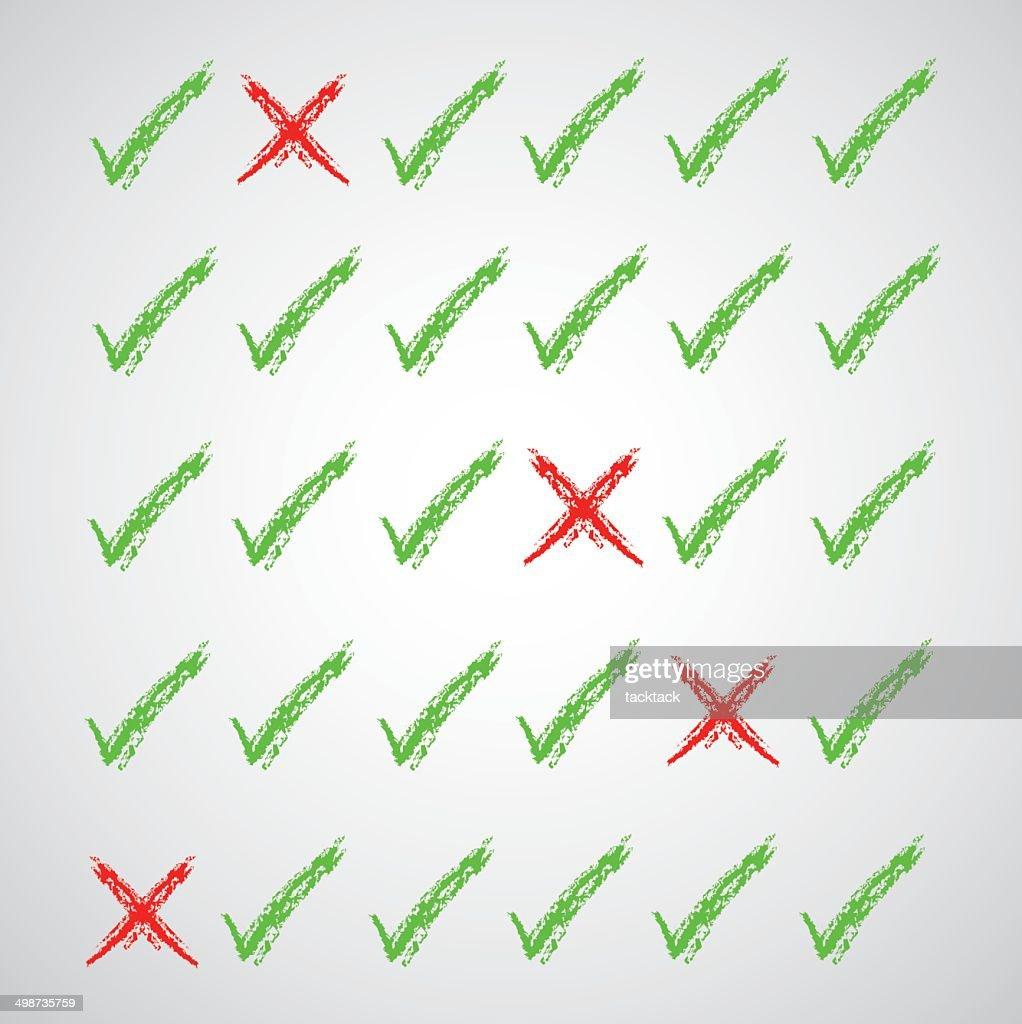 check marks symbol