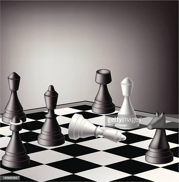 ilustraciones, imágenes clip art, dibujos animados e iconos de stock de revise mate - tablero de ajedrez