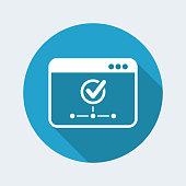 Check network - Vector flat minimal icon