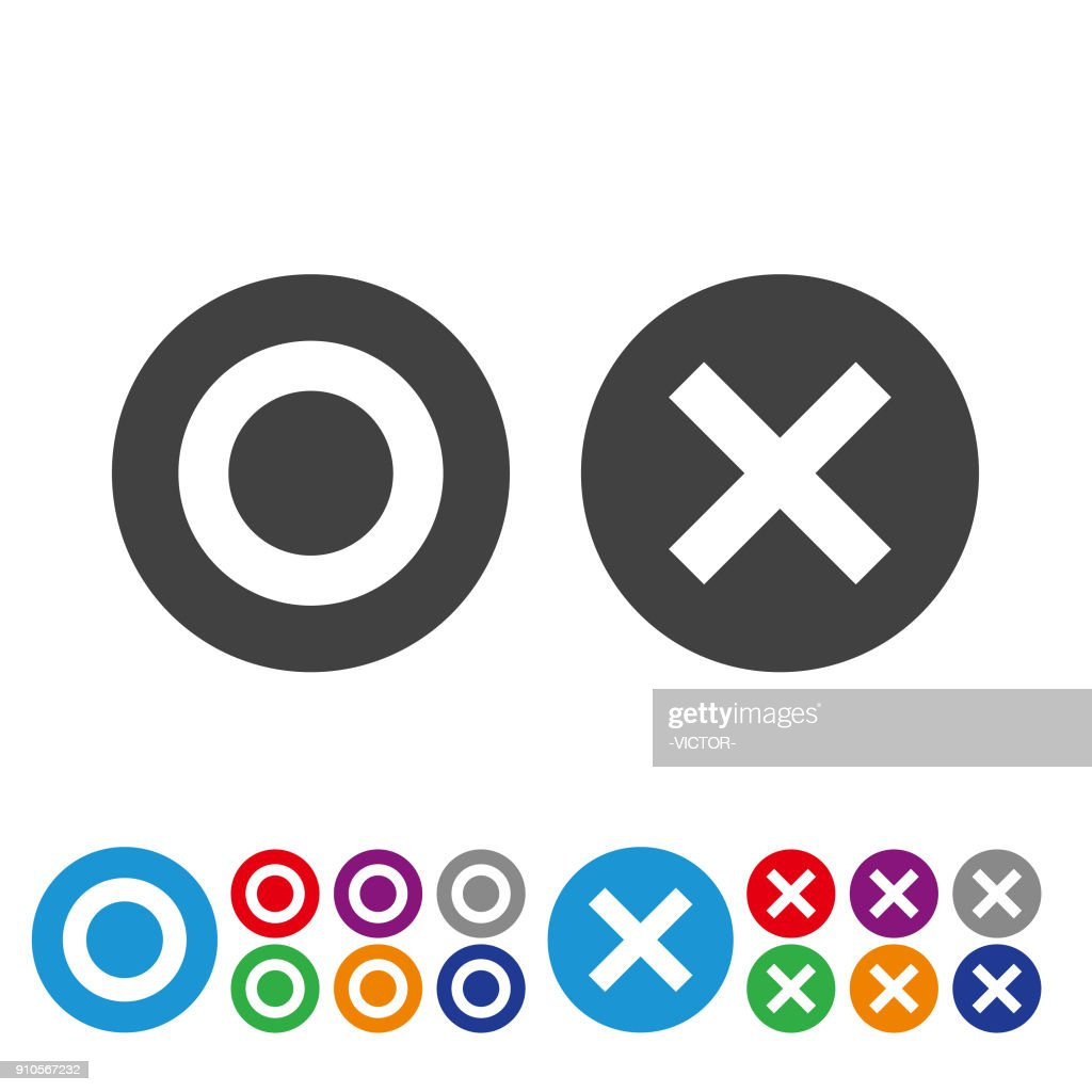 Checked and Unchecked Icons - Graphic Icon Series
