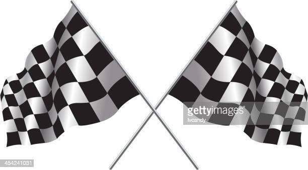 1 030 Checkered Flag High Res Illustrations Getty Images