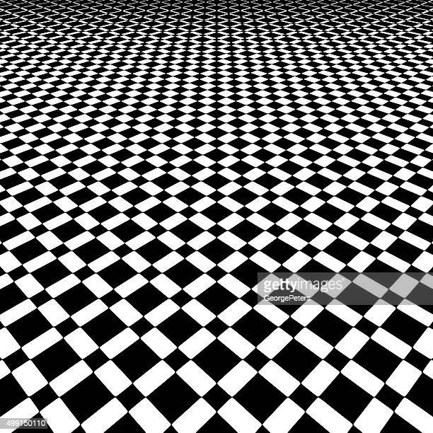 checkered background pattern with dramatic perspective - stretched image stock illustrations, clip art, cartoons, & icons