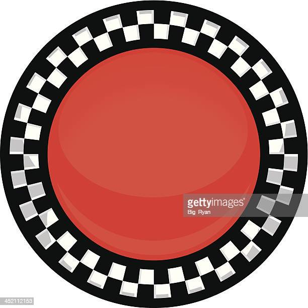checkered button - checked pattern stock illustrations