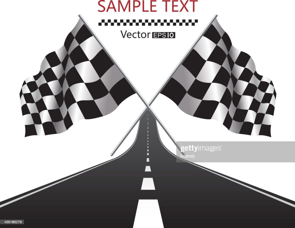 Checkered Flag and road