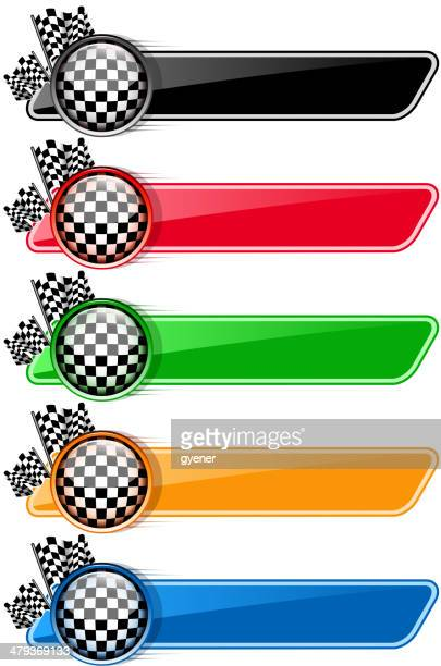checkered flag banners