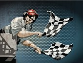 Checkered Flag Grunge Color