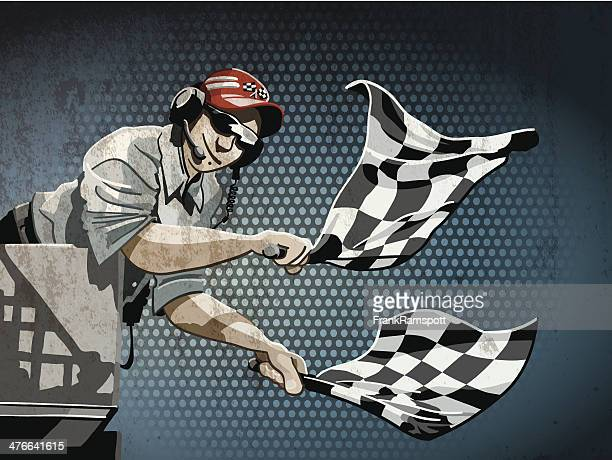 checkered flag grunge color - indianapolis stock illustrations, clip art, cartoons, & icons