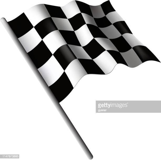 ilustraciones, imágenes clip art, dibujos animados e iconos de stock de cartel de bandera a cuadros - circuito de carreras de coches