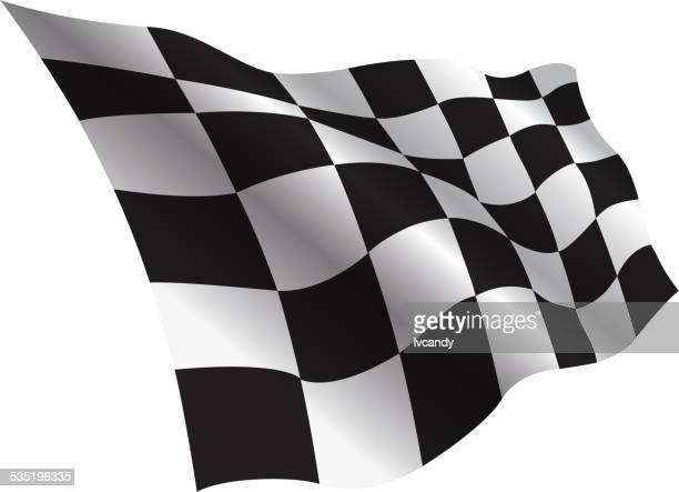 checkered flag - checkered flag stock illustrations