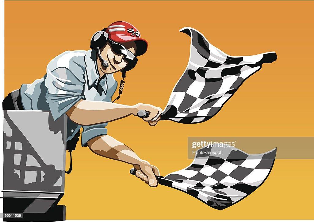 Checkered Flag : stock illustration