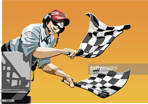 checkered flag - rally car racing stock illustrations, clip art, cartoons, & icons