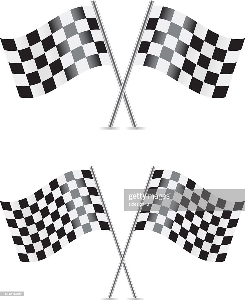 Checkered flags for the race track
