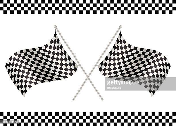 checkered flags - rally car racing stock illustrations, clip art, cartoons, & icons