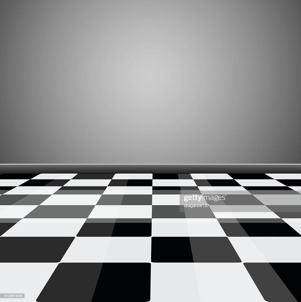 Checkered floor pattern
