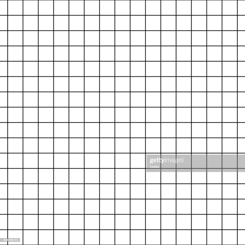 Checkered notebook paper vector seamless pattern