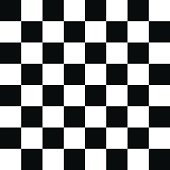 Checkered Pattern Black and White
