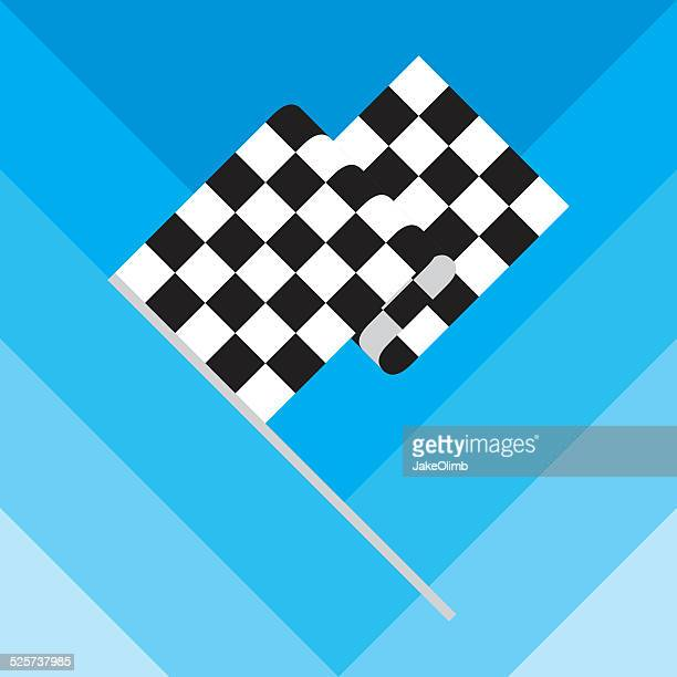 checkered race flag - rally car racing stock illustrations, clip art, cartoons, & icons