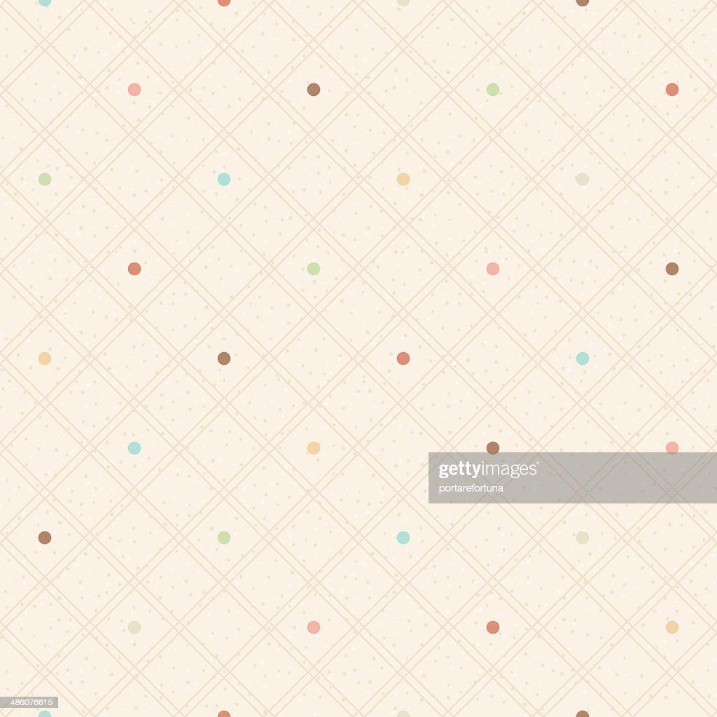 Checkered seamless polka dots pattern