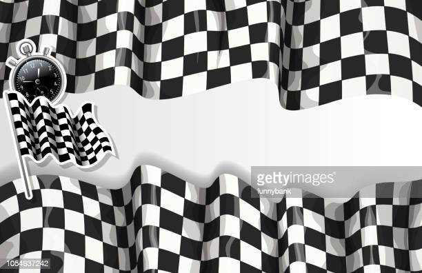 checkered speed banner - go carting stock illustrations, clip art, cartoons, & icons