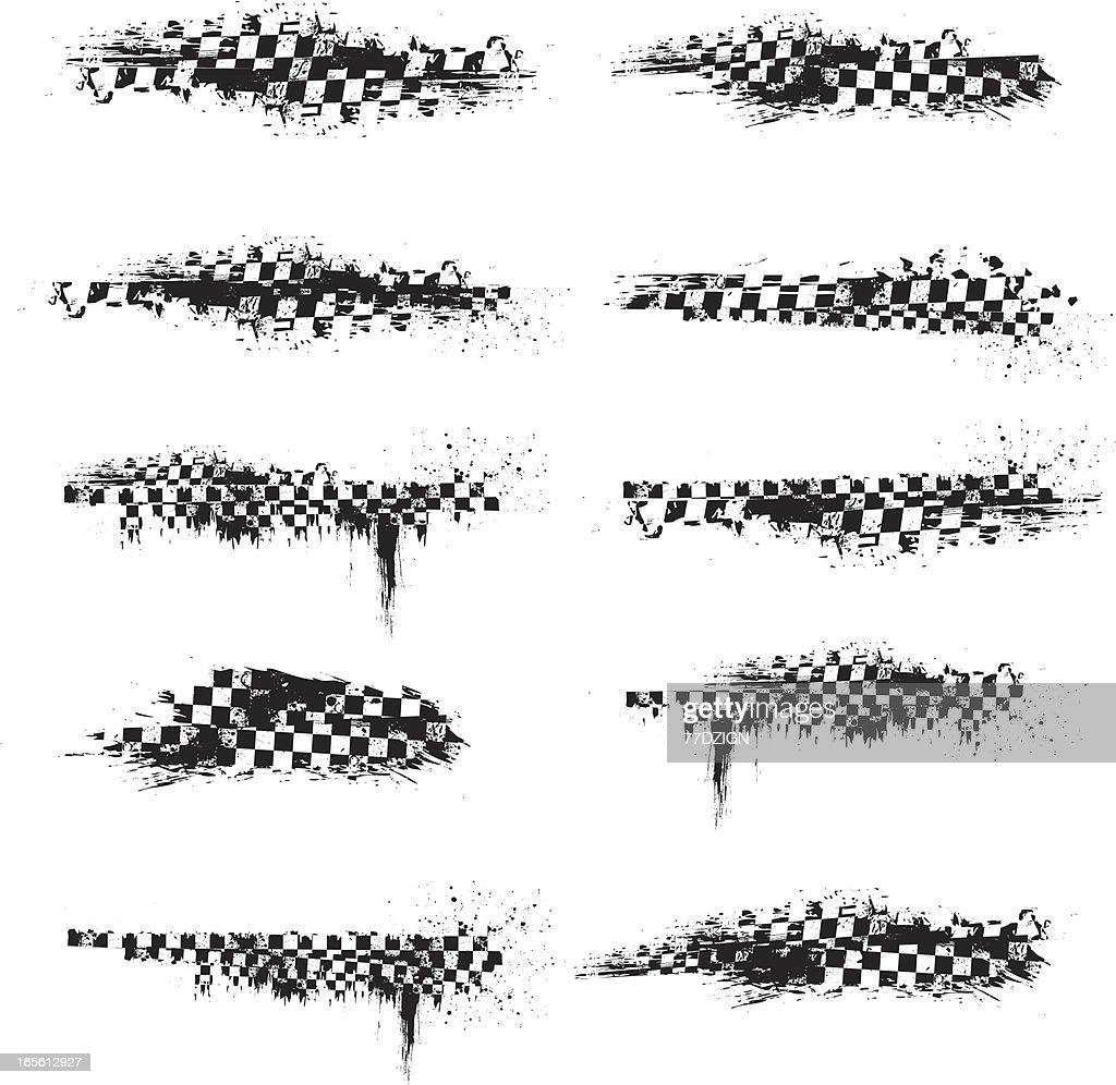 checkered splatter