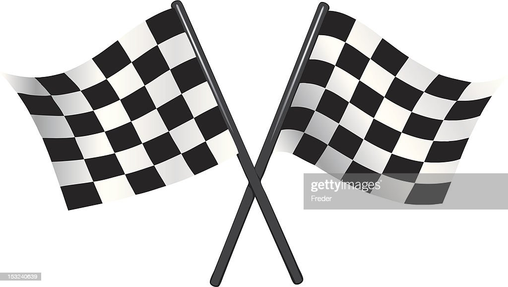 checkered vector flags - reached the goal