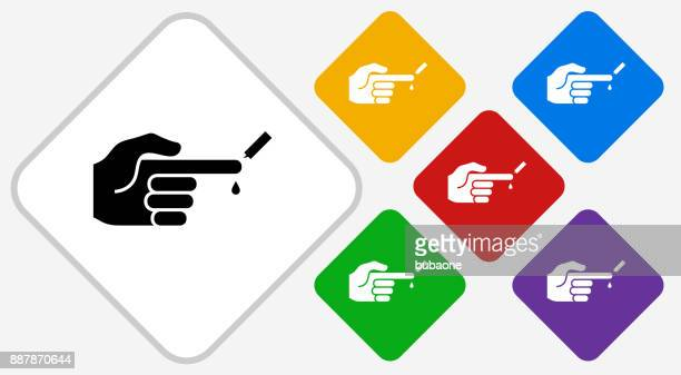 ilustraciones, imágenes clip art, dibujos animados e iconos de stock de control de glucosa niveles color diamante vector icono - diabetes