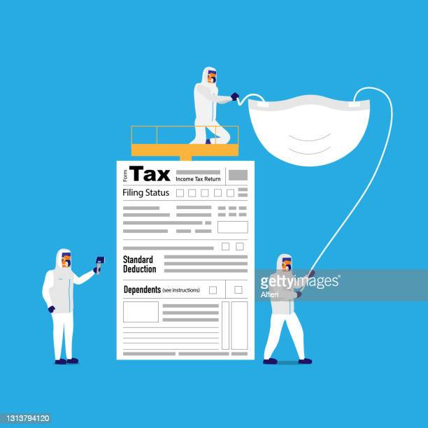checking tax health - paycheck protection stock illustrations