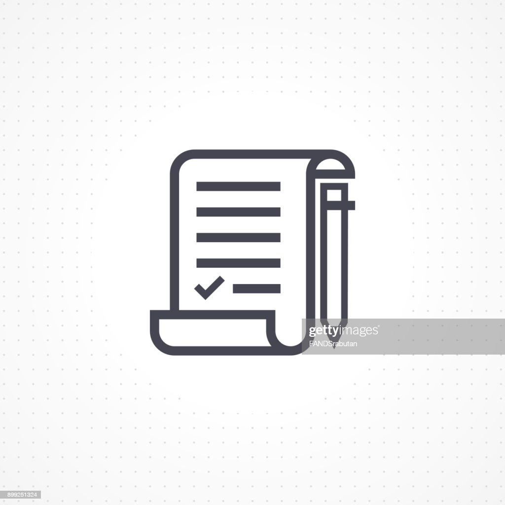Checklist document with pencil