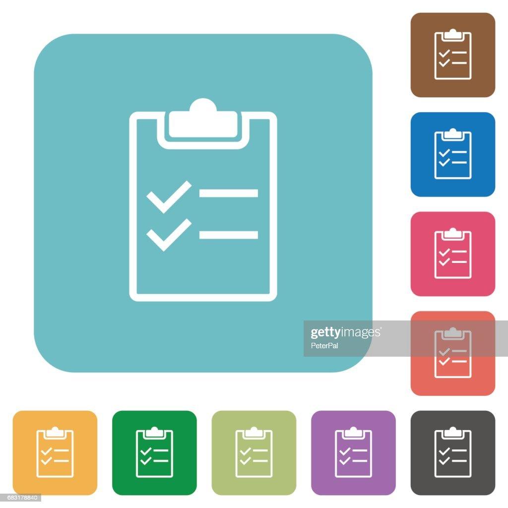 Checklist flat icons