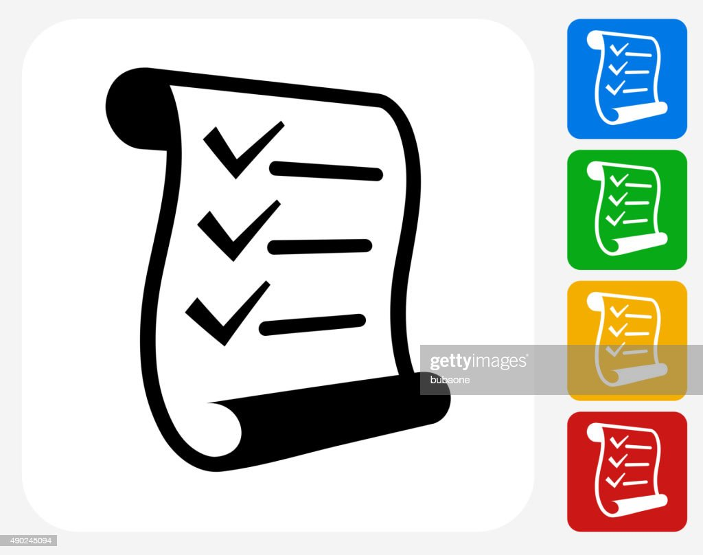 Checklist Icon Flat Graphic Design