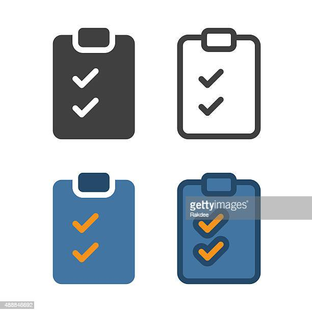 checklist icon - cheque stock illustrations, clip art, cartoons, & icons