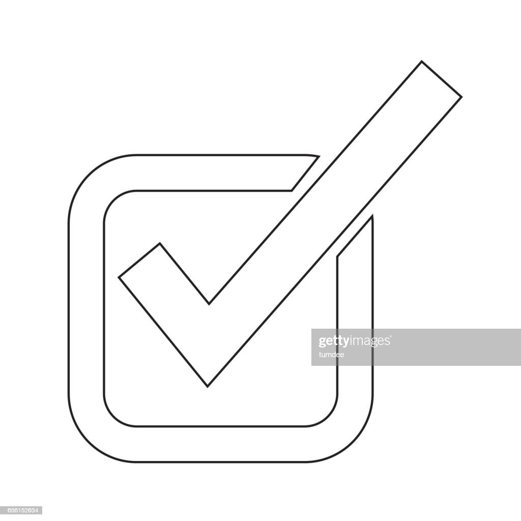 Checkmark Icon Illustration Design stock vector - Getty Images