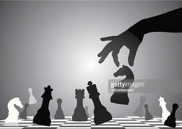 ilustrações de stock, clip art, desenhos animados e ícones de xeque-mate - xadrez