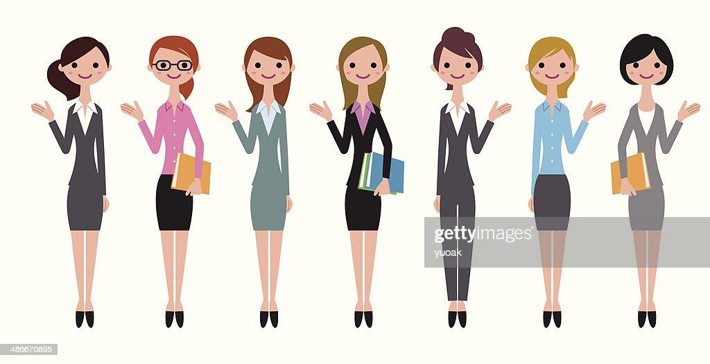 Cheerful business women : stock illustration