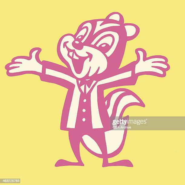 cheerful chipmunk - chipmunk stock illustrations