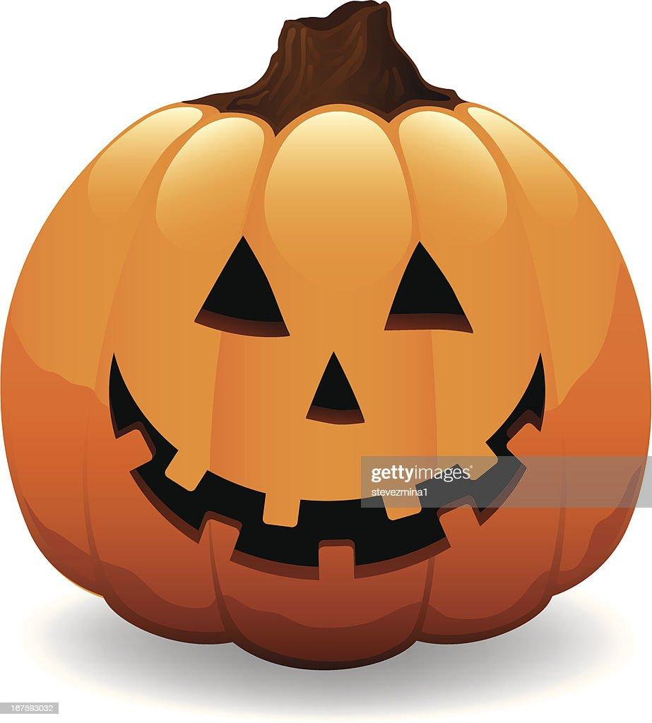 Fröhlich Halloween Kürbis Jack Olantern Vektorillustration