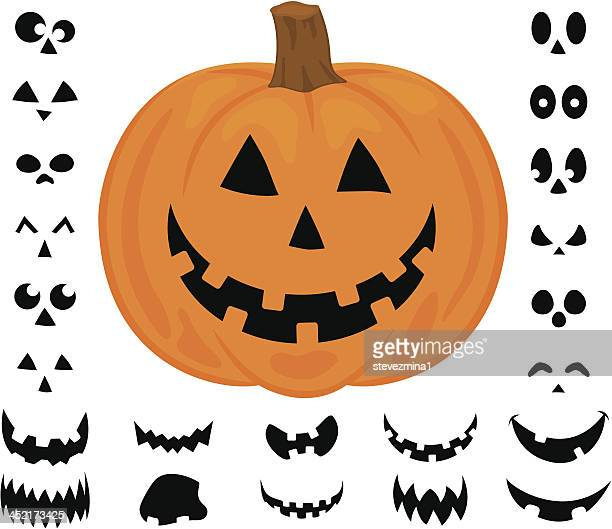 Cheerful Halloween Pumpkin Jack  O' Lantern Vector Illustration