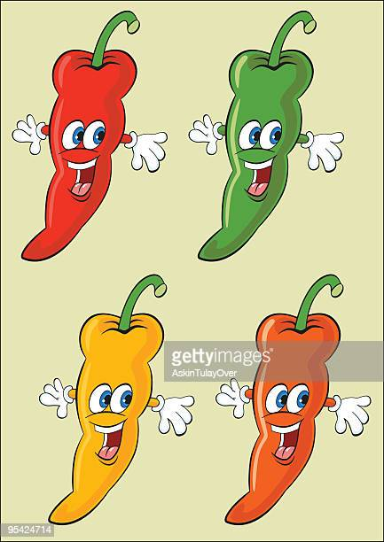 cheerful hot peppers