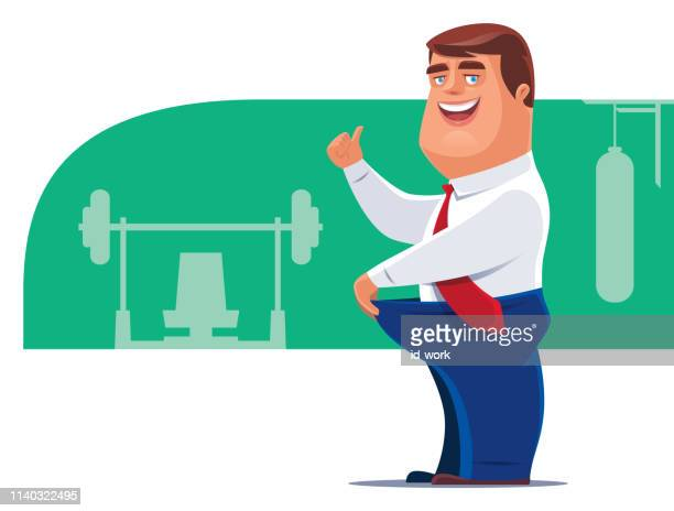 cheerful man giving thumbs up - erection stock illustrations, clip art, cartoons, & icons