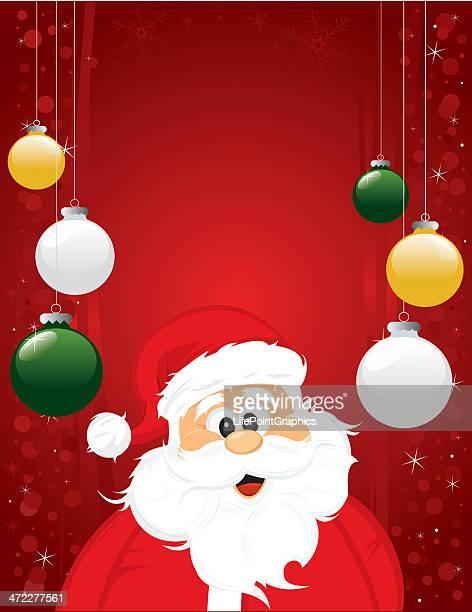 Cheerful Santa Claus Christmas Background