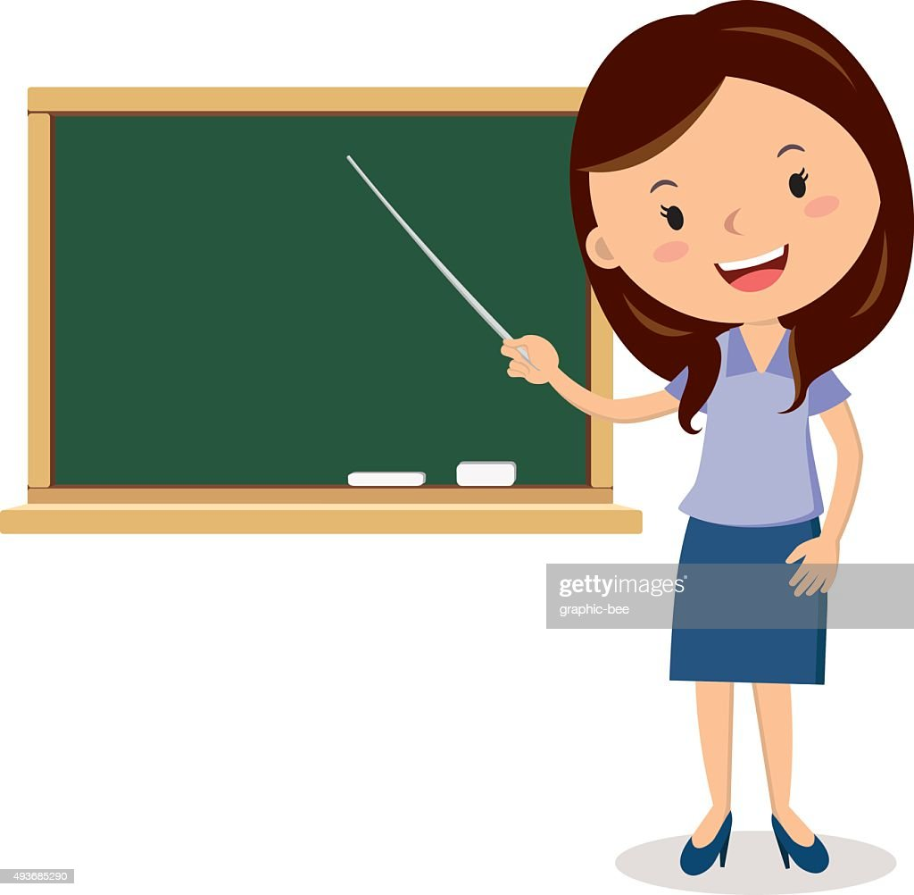 Cheerful teacher on lesson