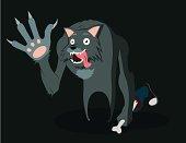 cheerful werewolf