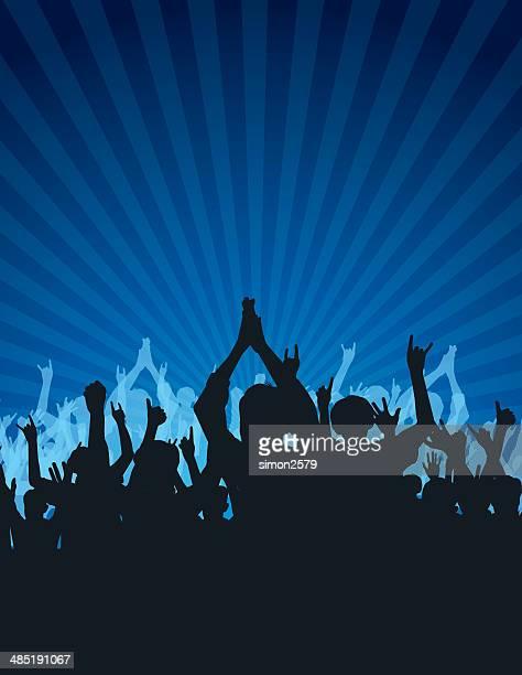 Cheering Crowd - Illustration