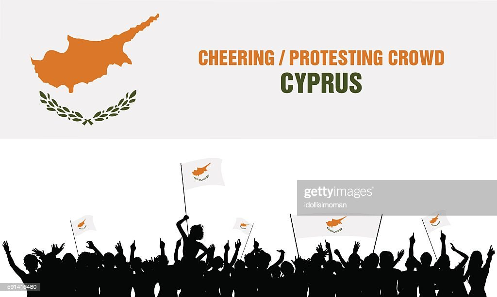 Cheering or Protesting Crowd Cyprus