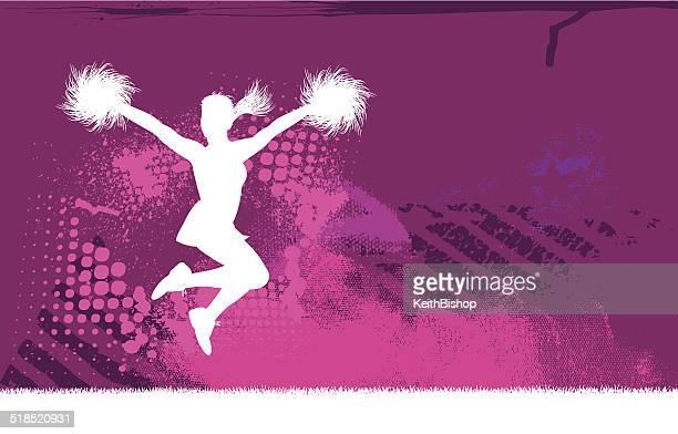 cheerleader background - cheerleader stock illustrations