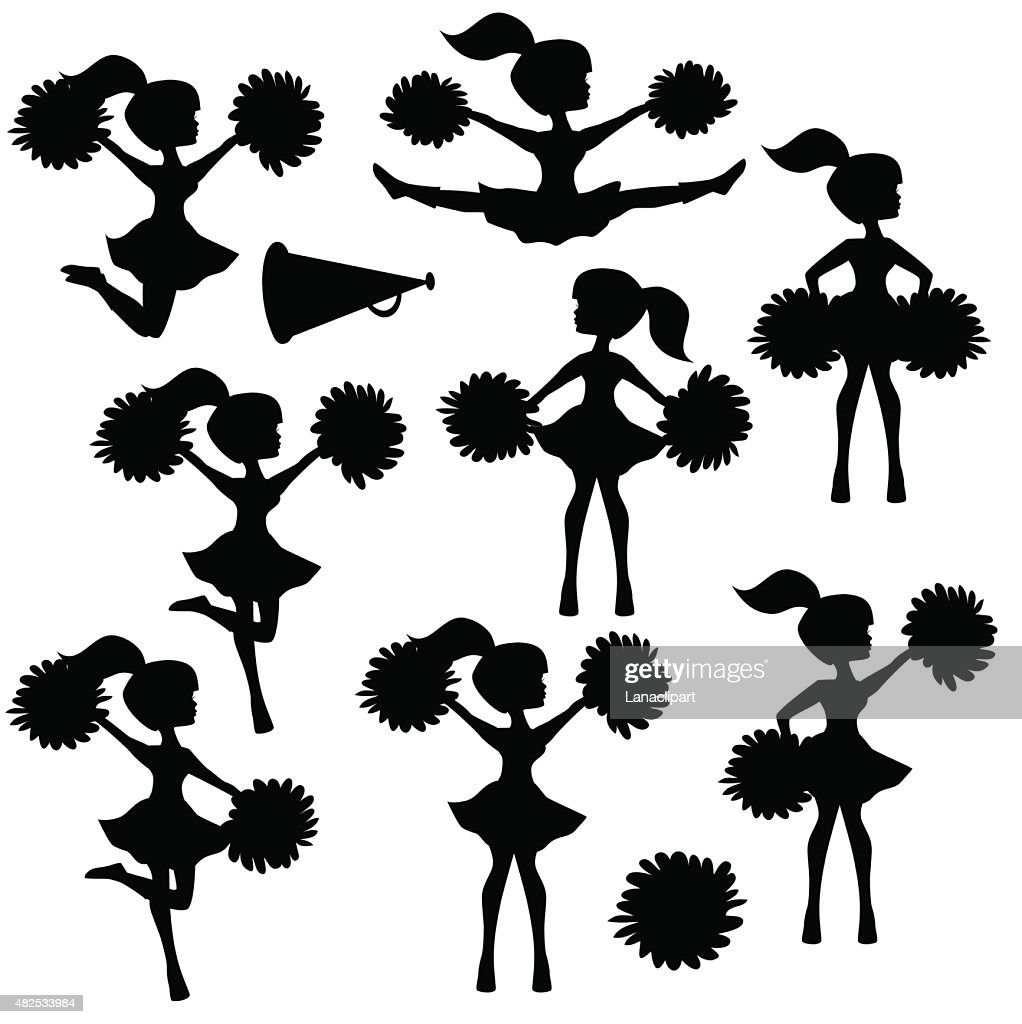 Cheerleader silhouette vector illustration