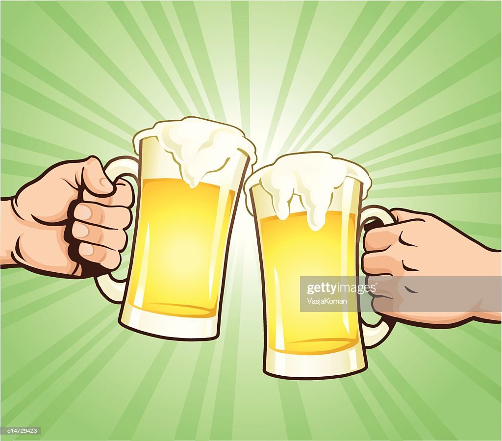 Cheers With Beer Glasses : stock illustration